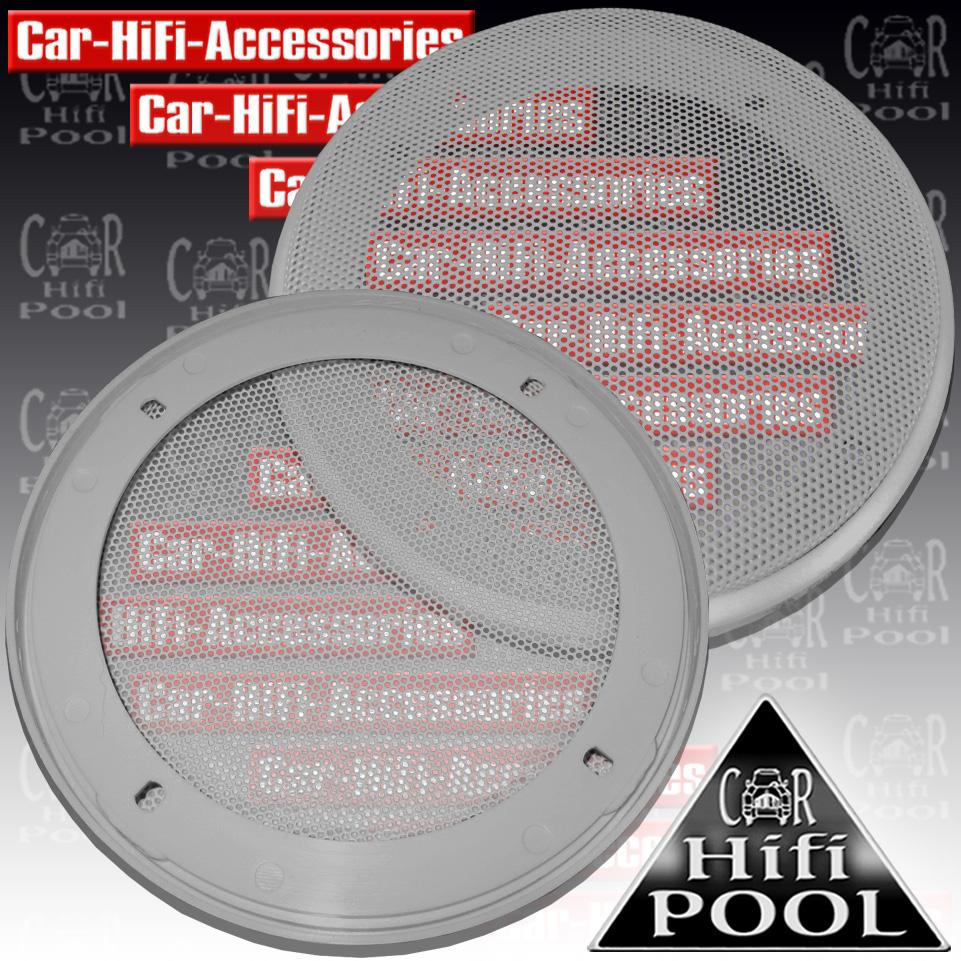 Lautsprecherabdeck Grill für 130 mm Lautsprecher SG13-SI LS Gitter silber