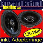 Lautsprecher Autoentertainment Hifonics WR 165mm Coax Lautsprecher für Nissan Almera Tür v
