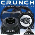 Crunch Speaker GTi 42 2 Wege 10cm Koax Lautsprecher Paar inkl. Gitter