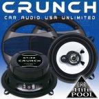 Crunch Speaker GTi 52 2 Wege 13cm Koax Lautsprecher Paar inkl. Gitter