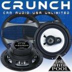 Crunch Speaker GTi 62 2 Wege 16,5cm Koax Lautsprecher Paar inkl. Gitter
