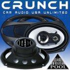"""Crunch Speaker GTi 693 ( 6x9"""" ) 3 Wege Triax Oval Lautsprecher Paar"""