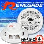 RENEGADE RXM 62 MARINE 165mm 2 Wege koax Lautsprecher Paar weiss