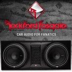 Rockford Fosgate Punch P2 Serie P2-2X10 Dual Gehäusesubwoofer 2x 25cm Bass Subwoofer