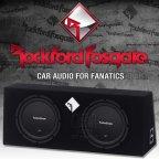 Rockford Fosgate Prime R1 Serie R1L-2X10 Dual Gehäusesubwoofer 2x 25cm Bass Subwoofer