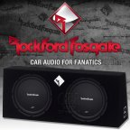 Rockford Fosgate Prime R1 Serie R1L-2X12 Dual Gehäusesubwoofer 2x 30cm Bass Subwoofer