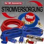 USF20234 - 20mm² Untersitz / Fußraum 4 Kanal Kabel Car Hifi Montage Kabel-Kit