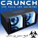 Crunch GTS800 Dual Bandpass Woofer 30cm Gehäuse Subwoofer 1600 W.