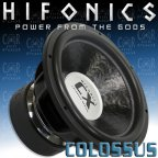 Hifonics CX 15 D2 - Subwoofer Woofer 2 + 2 Ohm 38cm Bass 9000 Watt CX15D2