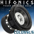 Hifonics CX 12 D2 - Subwoofer Woofer 2 + 2 Ohm 30cm Bass 8000 Watt CX12D2