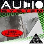 Audio System ALU202 0,4m² Alu-Butyl Dämmmatte 2m x 0,2m Alubutyl