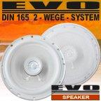 EVO-BA16W - 2 Wege 16,5cm Koax Lautsprecher Paar weiß inkl. Gitter
