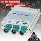 10123 Antennenverstärker - DAB DAB+ AM/FM Rundfunkverstärker 3 x FAKRA