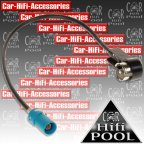 1524-02 Antennenadapter Fakra (Z) > ISO für Audi Mercedes Seat Skoda VW