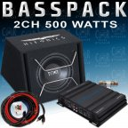 Hifonics / Crunch CH-BP500 Basspack - Auto Car Hifi Bass Anlage Set 500 Watt