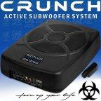 Crunch GP 810 - aktiv Suboofer flach System > unter Sitz Montage
