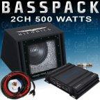 Hifonics / Crunch CH-BP501 Basspack - Verstärker Subwoofer Kabelset 500 Watt