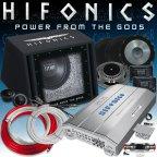 Hifonics HF-BP801 Soundpack - Endstufe Woofer Basskiste Lautsprecher & Kabelset