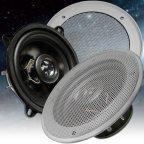 BA13-GS - 2 Wege 13cm Koax Lautsprecher Paar mit Gitter silber