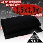 LT 1500.1 Lautsprecherteppich schwarz - Autoteppich Bassbox Bezug Teppich