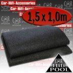LT 1500.2 Lautsprecherteppich anthrazit - Autoteppich Bassbox Bezug Teppich