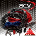 ACV LK-20 - KFZ Kabelset 20mm² Kabelkit Kabel Set für Endstufe Verstärker