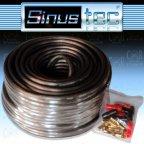 Sinustec ST-KL2,5b ultra-light - 10m 2,5mm² Lautsprecherkabel + Kabelschuhe