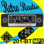 Dietz 201BT Retro Style Bluetooth Autoradio USB SD CD MP3 Oldtimer Radio schwarz