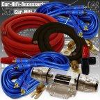 HO-435060 60A 35mm² 4 Kanal Kabelset Kabelkit Kabel Set für Endstufe Verstärker