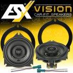 ESX VISION VS-100X - 2 Weg 10cm Koax Lautsprecher Paar für BMW
