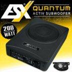 ESX Quantum Q 202A - 20cm Untersitz Aktiv Subwoofer 200 Watt Bass Bassbox Q202A