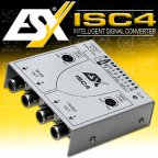 ESX ISC4 High To Low Level Converter 4-Kanal Lautsprecher Radio Adapter