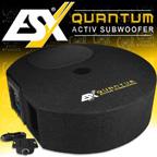 ESX Quantum Q 300A Reserverad Aktiv Subwoofer Bass Bassbox mit Verstärker Q300A