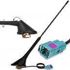10214 16V Style Antenne abklappbare AM/FM Dachantenne mit Verstärker FAKRA (f)