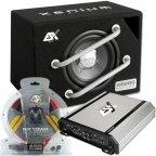 "ESX HXE 200.2 20cm 8"" Basspack - Car Hifi Verstärker Subwoofer und  Kabelset"