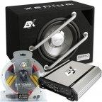 "ESX HXE 250.2 25cm 10"" Basspack - Car Hifi Verstärker Subwoofer und  Kabelset"