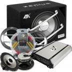 """ESX HXE 300.4 30cm 12"""" Soundpack - Verstärker Subwoofer Lautsprecher & Kabelset"""