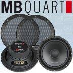 MB QUART QS 165W - 16,5cm Woofer 165mm Kickbass Lautsprecher Paar mit Gitter