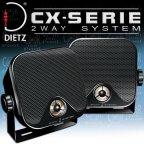 DIETZ CX-4MB Aufbaulautsprecher schwarz Lautsprecher für Auto Pkw Kfz Lkw Camping Marine