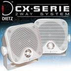 DIETZ CX-4MW Aufbaulautsprecher weiss Lautsprecher für Auto Pkw Kfz Lkw Camping Marine