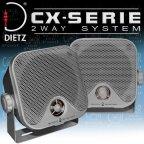 DIETZ CX-4MG Aufbaulautsprecher grau Lautsprecher für Auto Pkw Kfz Lkw Camping Marine